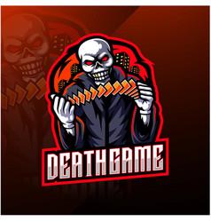 skull gaming esport mascot logo vector image
