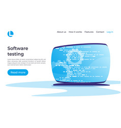 software development programming coding testing vector image