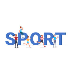 sport big letters flat vector image
