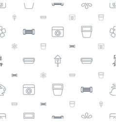 spring icons pattern seamless white background vector image