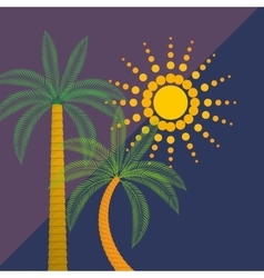 Summer palms tree vector