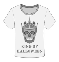 T-shirt King of Halloween vector image