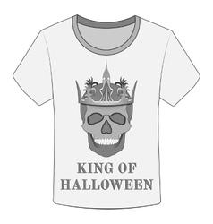 T-shirt King of Halloween vector
