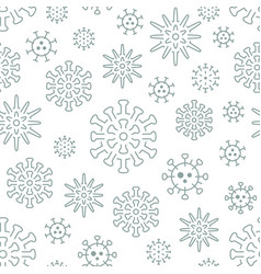 virus seamless pattern background included vector image