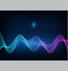 Voice assistant concept vector