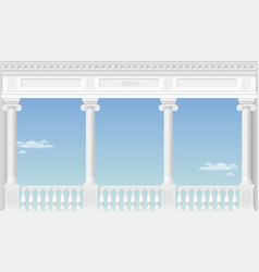 white arch of the palace vector image