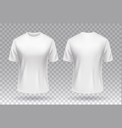 White blank t-shirt front and back template vector