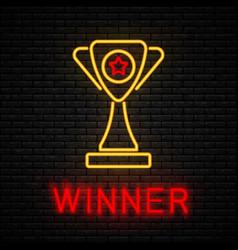 winner concept neon vector image