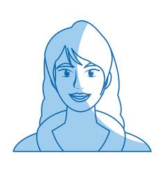 Woman face portrait beautiful spa model girl vector