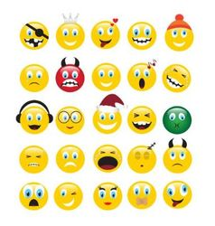 yellow emotions vector image