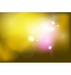 yellow shiny blurred sky background vector image