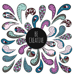 be creative inspirational poster template doodle vector image vector image