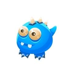 Blue Wingless Fantastic Friendly Pet Dragon vector image vector image
