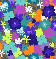 colorful flower print vector image vector image