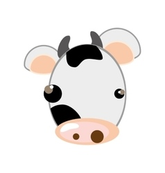 cow animal cartoon vector image
