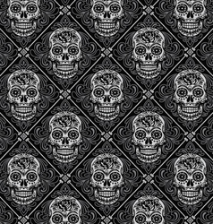 Day of the Dead Seamless Pattern vector image