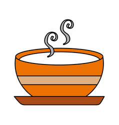 delicious soup bowl food of season autumn vector image