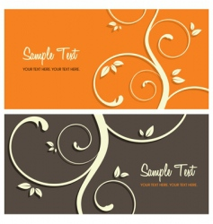 floral card set vector image