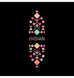 Indian colorful logo with geometric shapes vector image vector image