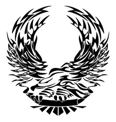 tribal eagle with banner vector image