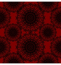 Crimson Red Round Lace Gothic Pattern vector image vector image
