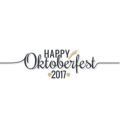 oktoberfest logo lettering on white design vector image