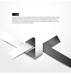 paper origami knot design vector image vector image