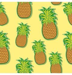pineapple sticker pattern vector image