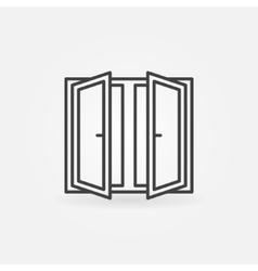 Window logo or icon vector image