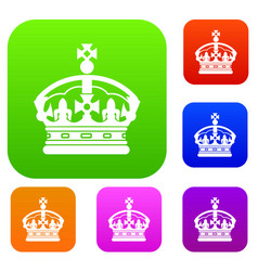 Crown set collection vector