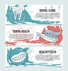 Dental banners or website header set vector