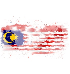 map of Malaysia Watercolor paint vector image