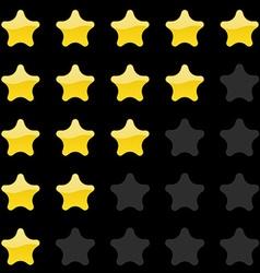 Rating stars panel Customer review vote navigation vector image