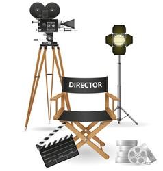 set icons cinema 03 vector image