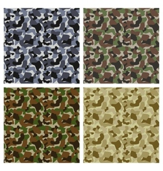 Set Of Classic Camouflage Seamless Patterns vector image vector image