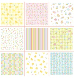 soft patterns vector image