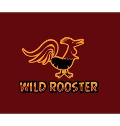 Wild rooster vector