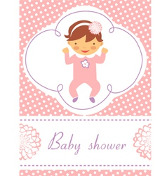 Baby girl card vector image vector image