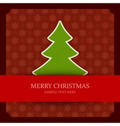 Christmas green tree applique vector image vector image
