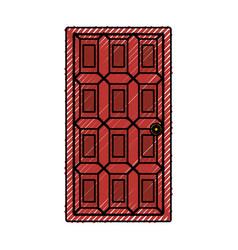House door isolated vector