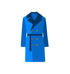 overcoat icon fashion blue on white background vector image