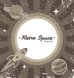 retro space theme vector image vector image