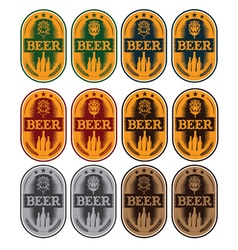 set of labels for beer in a retro style vector image vector image