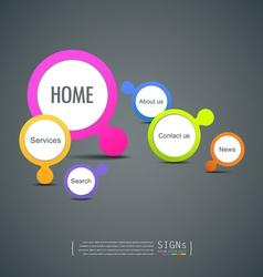 Signs website icon design vector