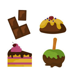 sweets food bakery dessert sugar confectionery vector image