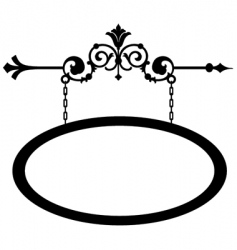 wrought iron shop sign vector image vector image