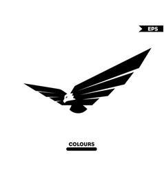 3d eagle logo vector image