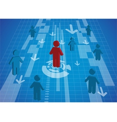 A man standing icon out from the crowd vector image