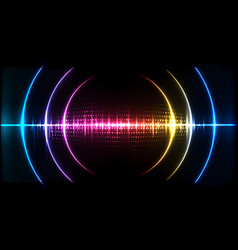 Abstract digital technology wave sound signal vector