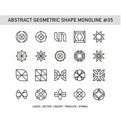abstract geometric shape monoline 05 vector image
